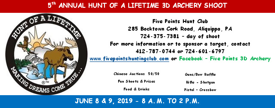 2019 Hunt of Lifetime 3D Archery Shoot